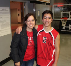 brand you - kelsey and mom after CSUN volleyball game